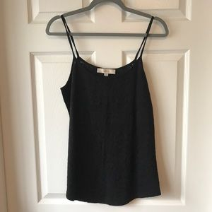 BNWT Black Lace L LOFT Soft Tank Top.